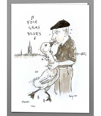 Foie Gras Blues x 5 greeting cards